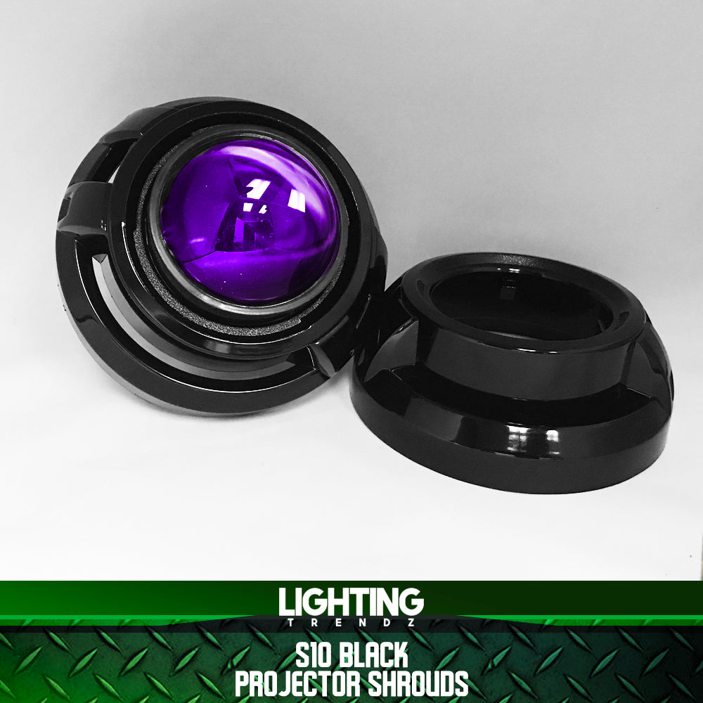 S10 Projector Shrouds (Black or Chrome)