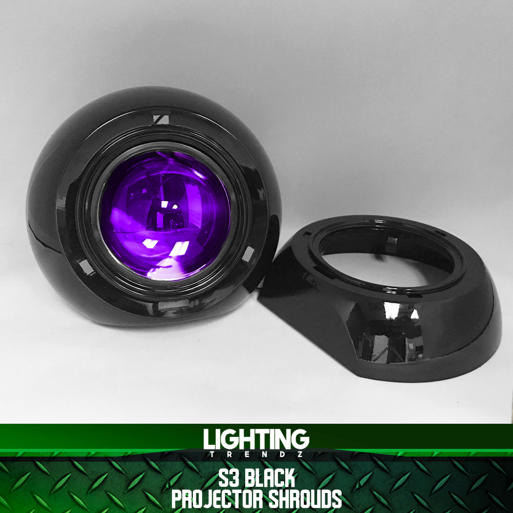 S3 Projector Shrouds (Black or Chrome)