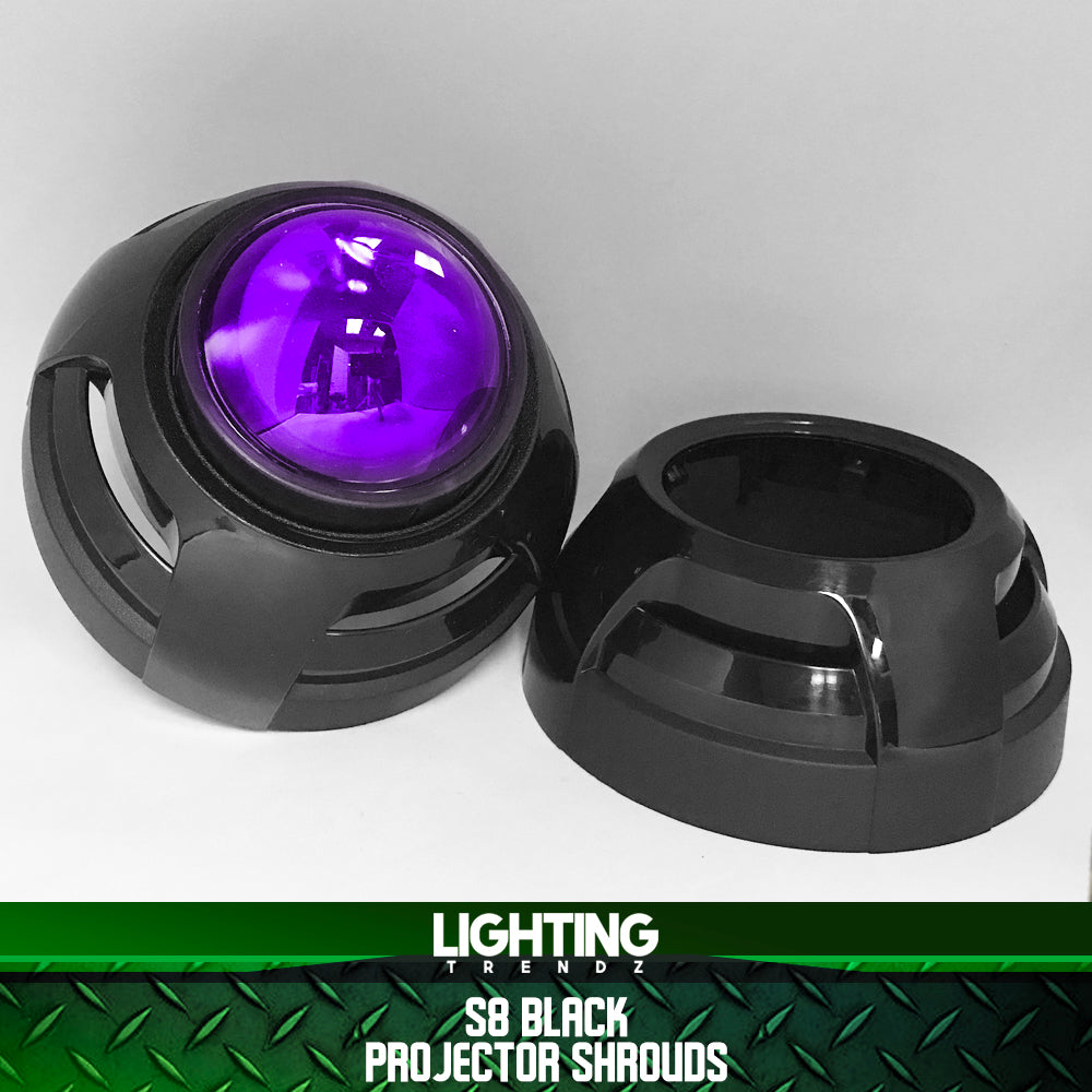 S8 Projector Shrouds (Black or Chrome)