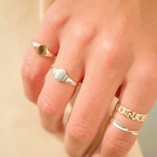 Petit Oval Signet Ring