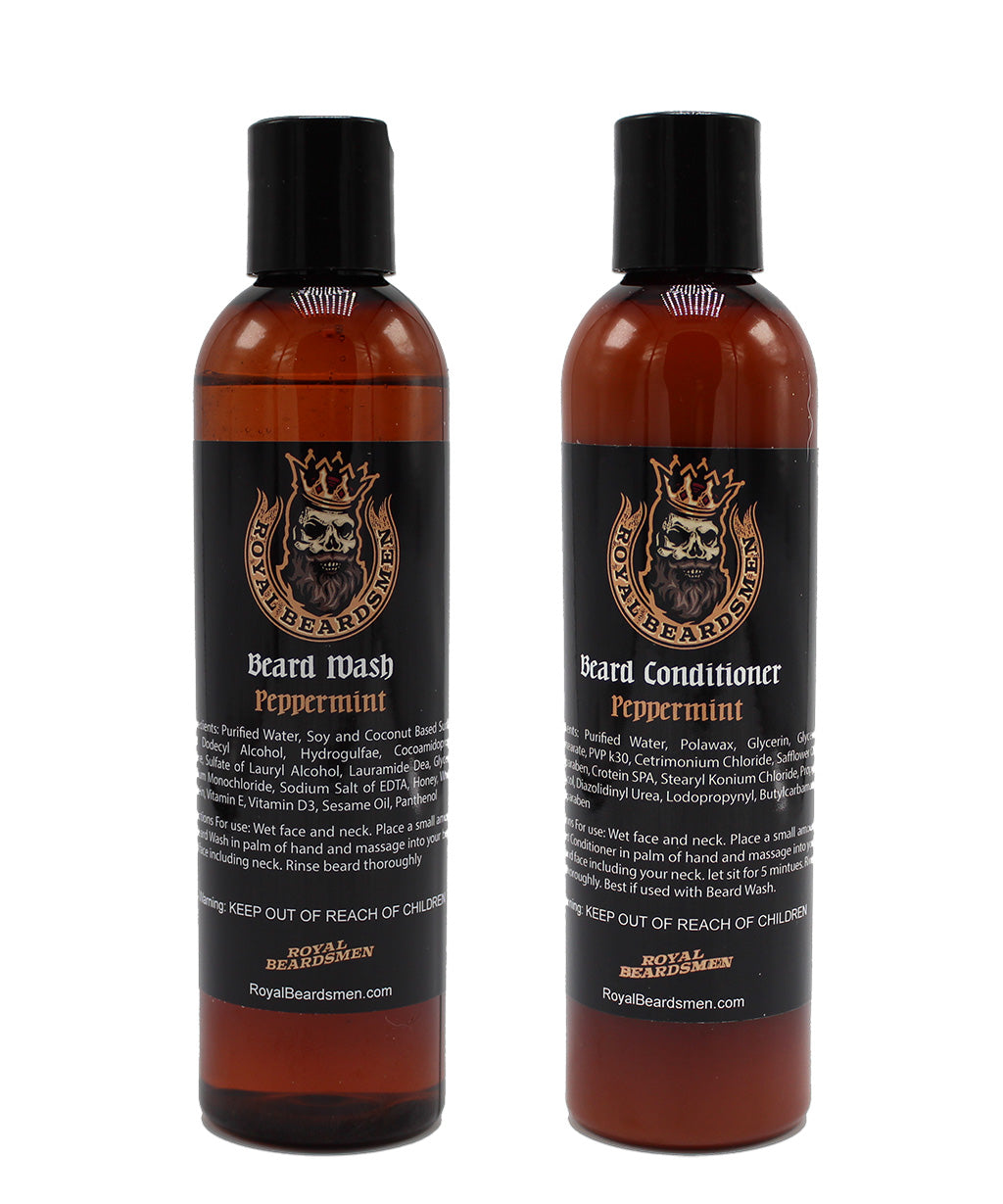 Peppermint Beard Wash and Peppermint Beard Conditioner Combo