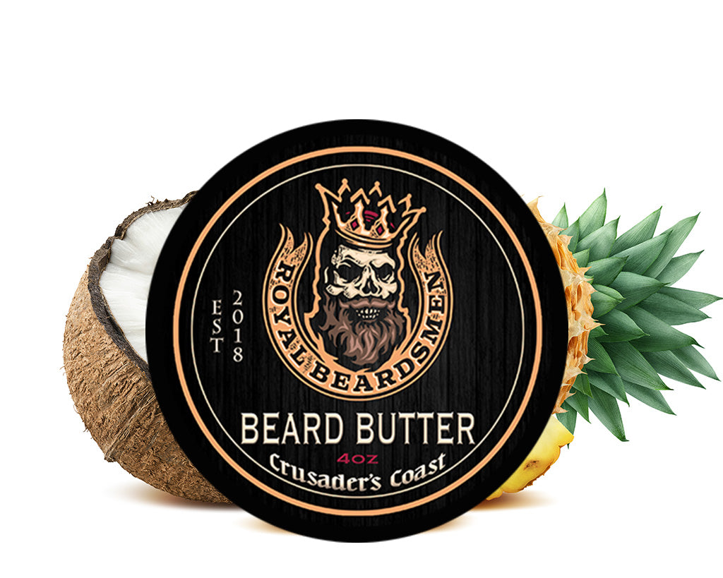 Crusaders Coast Pina Colada 4oz Premium Beard Butter