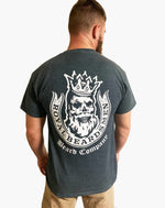 Royal Beardsmen Gray Shirt White Logo Back