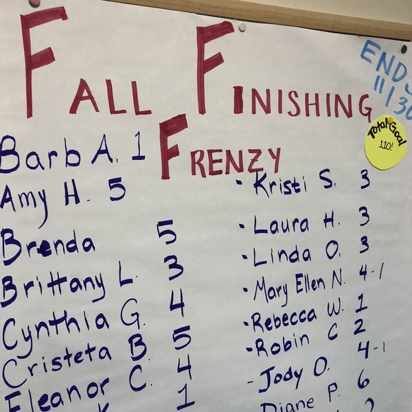 Fall Finishing Frenzy
