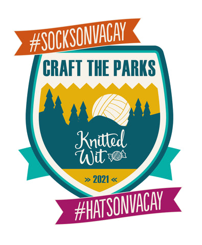 Craft the Parks Knitted Wit 2021 logo with hashtags