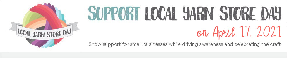 Local Yarn Store Day Logo and Website Banner