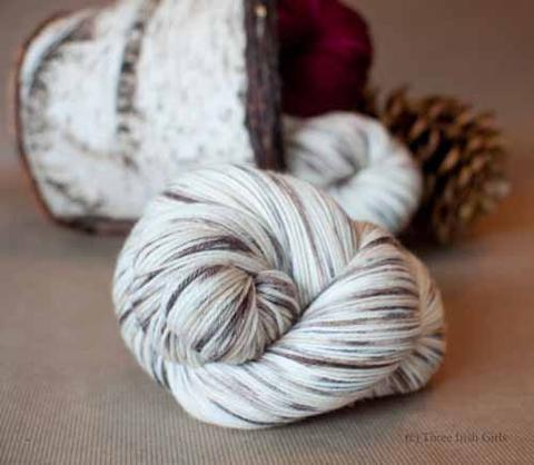 Springvale Sock -- Winter Birch