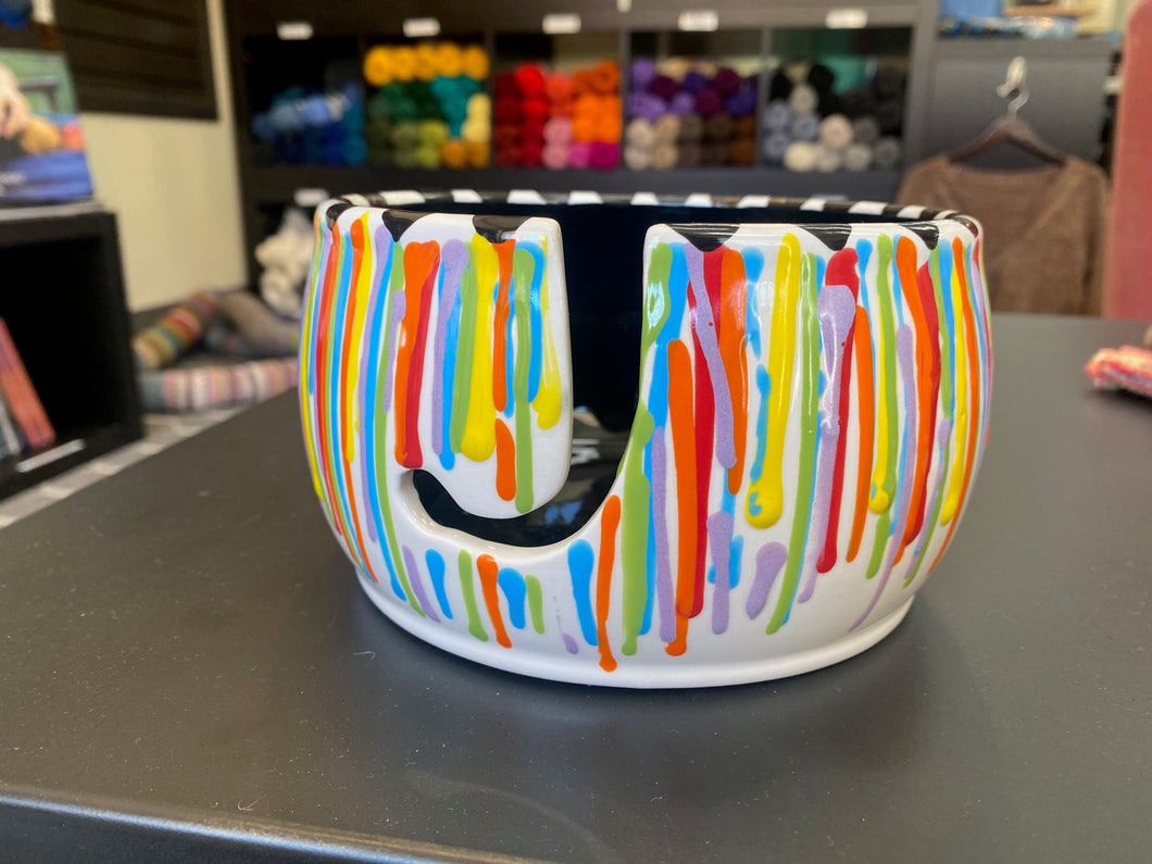 Yarn Bowl - Rainbow Drips