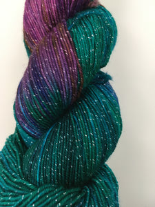 Knitted Wit Pixie Plied - Blue Orchard Bee