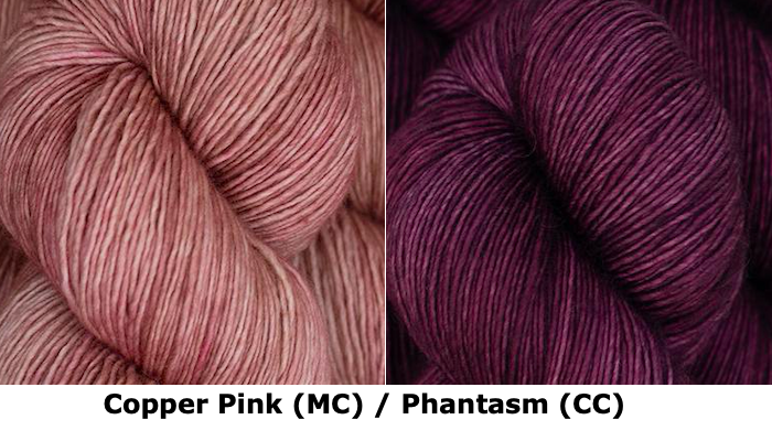 Together Apart Yarn Kit -- Copper Pink (MC) & Phantasm