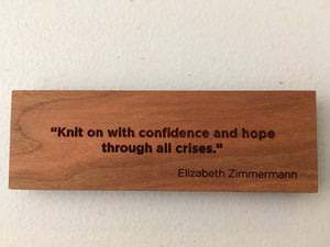 Maker Quote - Elizabeth Zimmermann