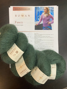 Kidsilk Haze Sweater Bundle: Shanti or Fancy #651 (Forest Green)