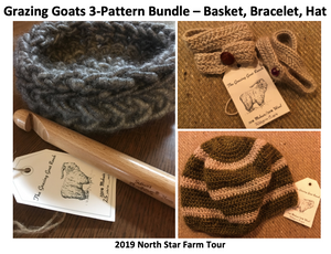 Grazing Goats 3-Pattern Bundle (PDF)
