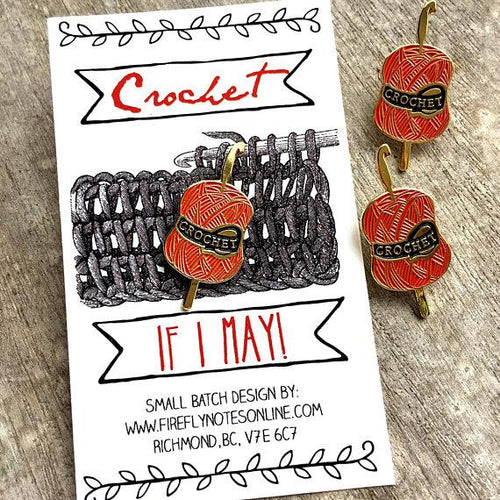 Enamel Pin - Crochet