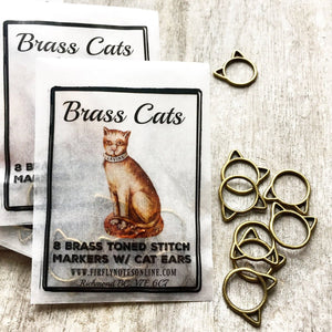 Brass Cat Stitch Markers
