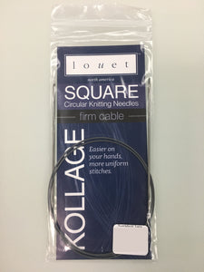 "Kollage Square Circ - Firm Cable - 24"" US 11 (8mm)"