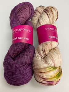 Hug Shot Yarn Kit -- Dried Lavender & Rainbow Sprinkles