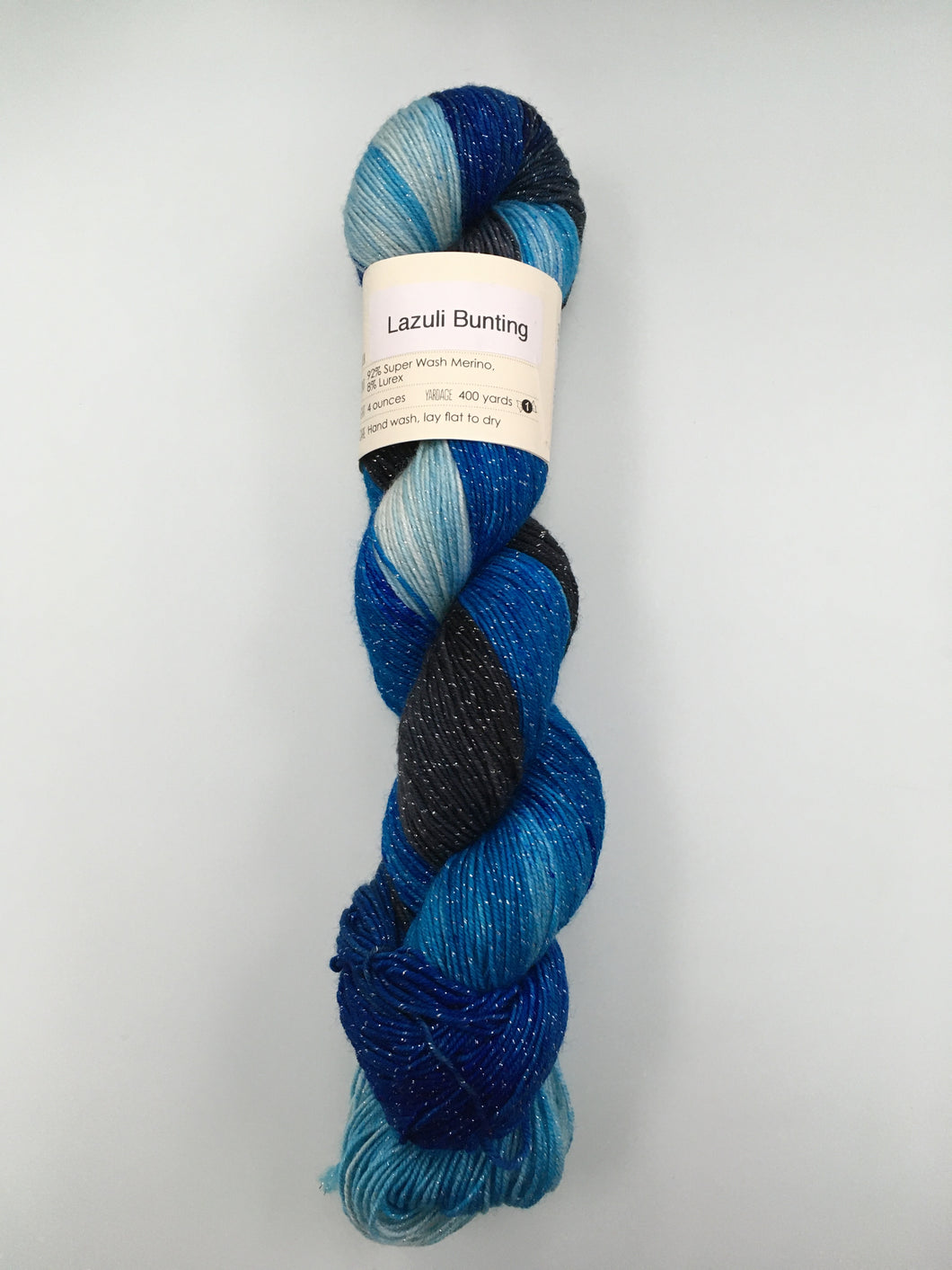 Knitted Wit Pixie Plied - Lazuli Bunting