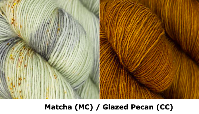 Together Apart Yarn Kit -- Matcha (MC) & Glazed Pecan