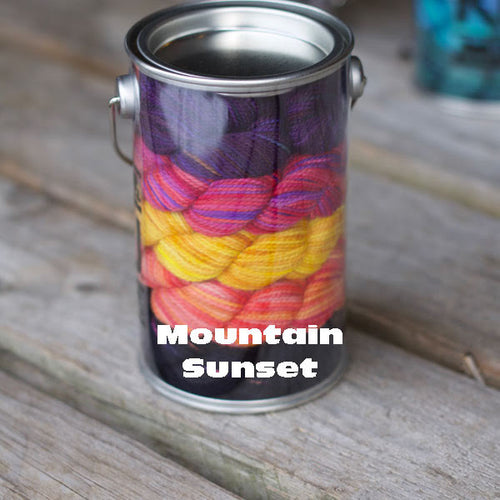 Mountain Sunset Paint Can