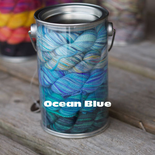 Ocean Blue Paint Can