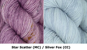 Together Apart Yarn Kit -- Star Scatter (MC) & Silver Fox