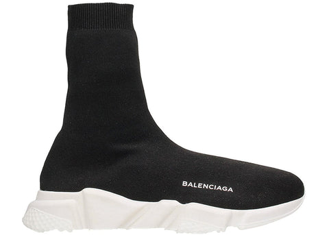 Balenciaga Speed Trainer High Black White