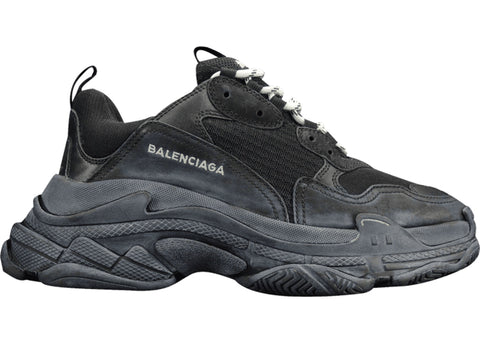 Balenciaga Triple S Triple Black (2018 Reissue) (Pre-Distressed)