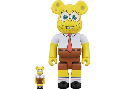Bearbrick Spongebob 100% & 400% Set Yellow