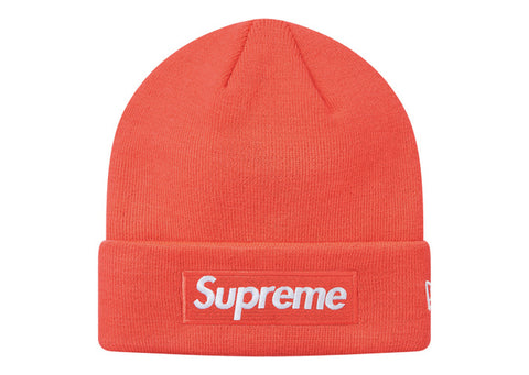 Supreme New Era Box Logo Beanie (FW18) Bright Coral