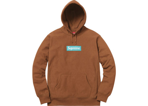 Supreme Box Logo Hooded Sweatshirt (FW17) Rust
