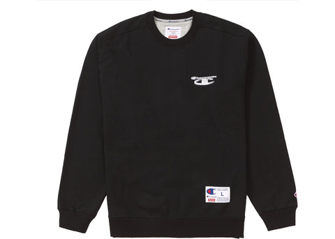 Supreme Champion 3D Metallic Crewneck Black