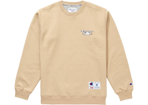 Supreme Champion 3D Metallic Crewneck Tan