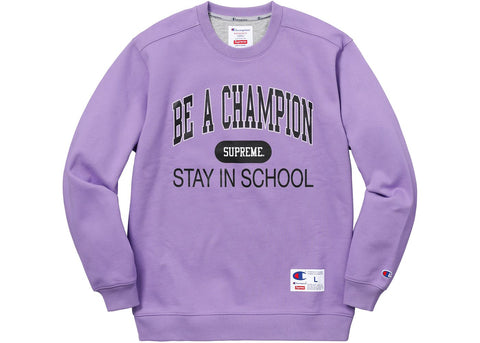 Supreme Champion Stay In School Crewneck Light Purple