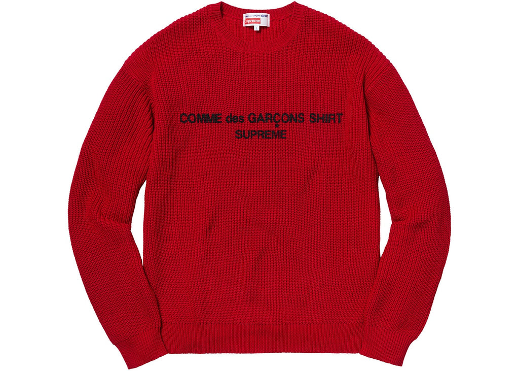 da974627 Supreme Comme des Garcons SHIRT Sweater Red – Cop-room