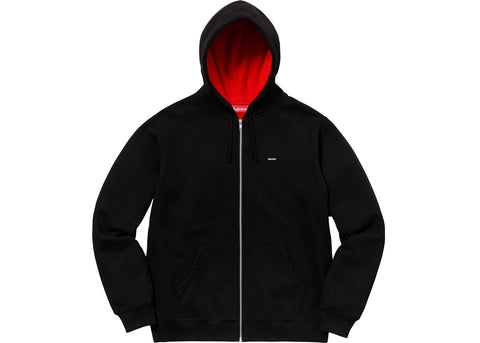 Supreme Contrast Zip Up Hooded Sweatshirt Black