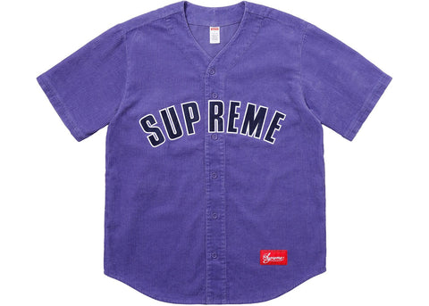 Supreme Corduroy Baseball Jersey Dusty Purple