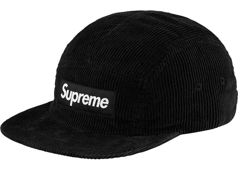 Supreme Corduroy Camp Cap (SS18) Black