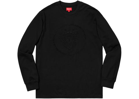 Supreme Crest L/S Top Black