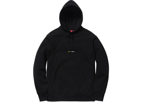 Supreme Embossed Logo Hooded Sweatshirt (SS18) Black
