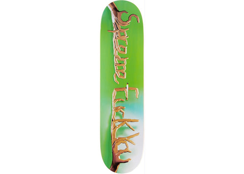 Supreme Fuck You Skateboard Deck Green
