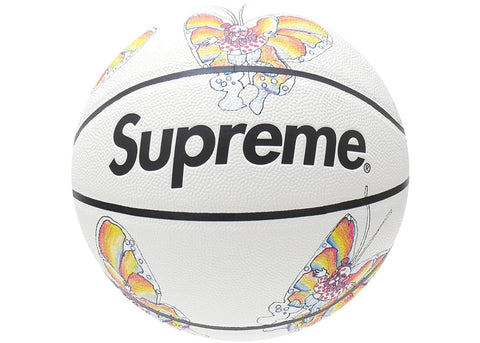 Supreme Gonz Butterfly Spalding Basketball White