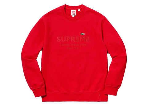 Supreme LACOSTE Crewneck Red