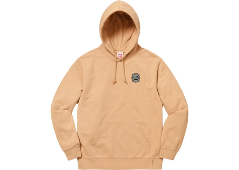 Supreme LACOSTE Hooded Sweatshirt Light Brown