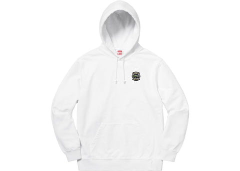 Supreme LACOSTE Hooded Sweatshirt White