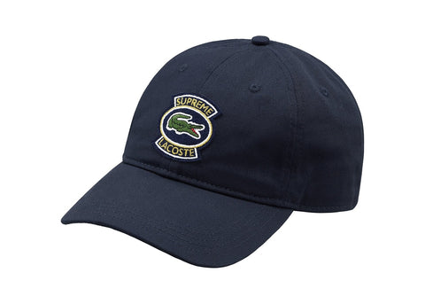 Supreme LACOSTE Twill 6-Panel Navy