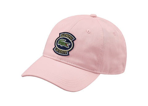 Supreme LACOSTE Twill 6-Panel Pink