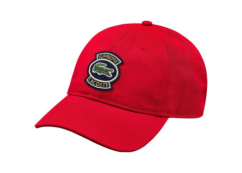 Supreme LACOSTE Twill 6-Panel Red