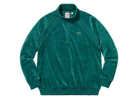 Supreme LACOSTE Velour Half-Zip Track Top Teal