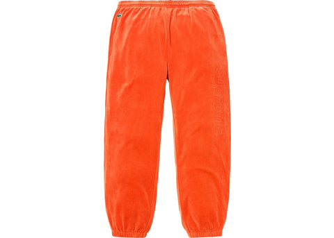 Supreme LACOSTE Velour Track Pant Orange